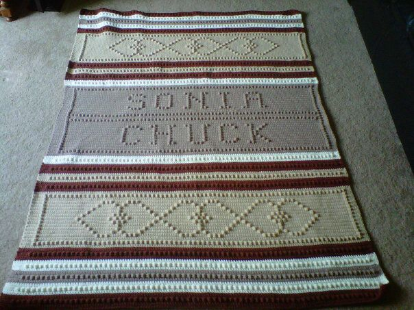 Personalized Afghan Pattern Great Wedding Gift Very Easy To Do