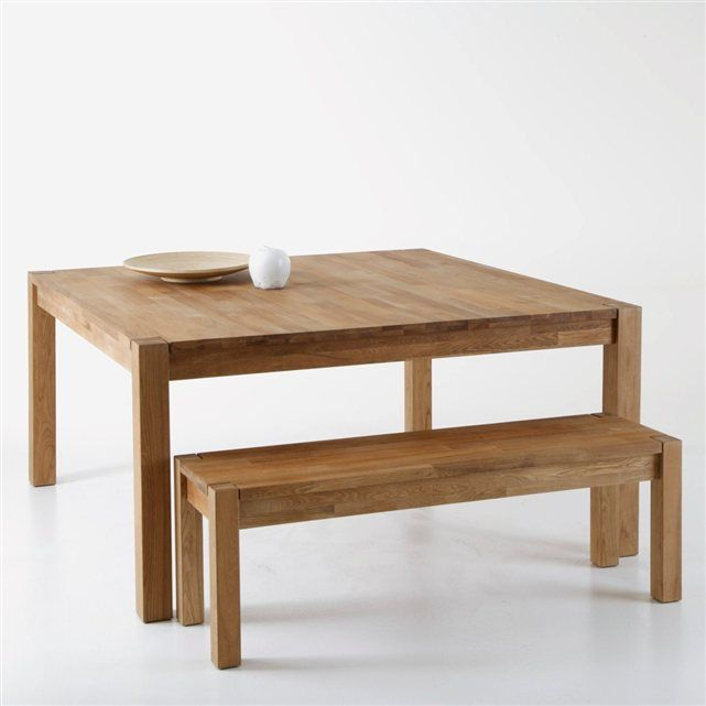 Table Carree Chene Massif 8 Couverts Adelita Salle A Manger Moderne Table Carree Chene Massif