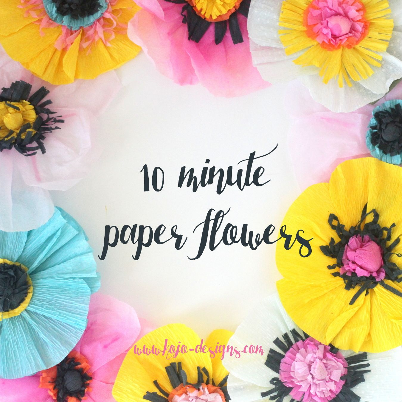 Easiest ever crepe paper flowers each one takes about ten minutes