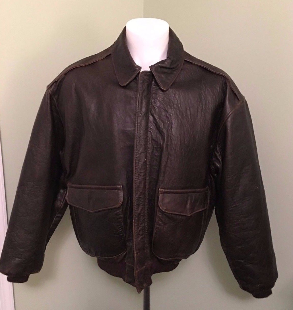 Details about Vintage Avirex A2 Leather Bomber Flight