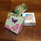 Make these card boxes out of upcycled greeting cards Great for gift giving jewelry boxes or even tooth fairy boxes Loads of possibilities  Xmas 16