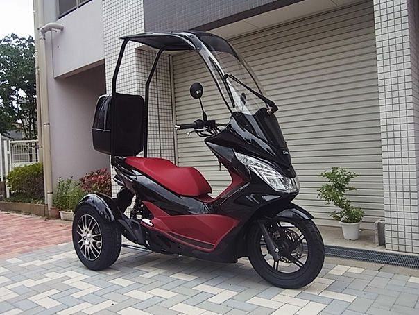 Honda Pcx Trike Roof Tricycle Bike Trike Honda Scooters