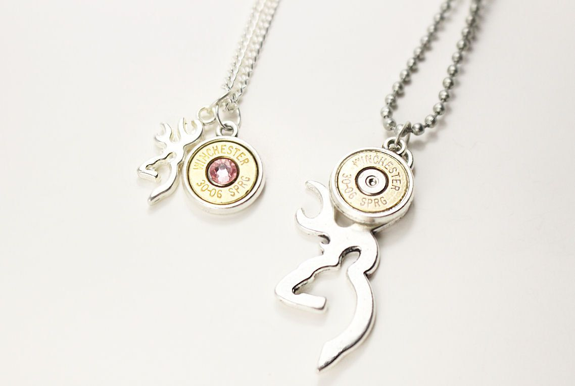 valentines deer pin girlfriend boyfriend necklace day jewelry couples set for gift bullet