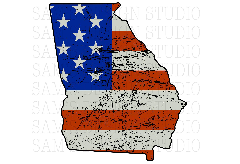 Georgia Png American Flag Georgia Sublimation Designs Etsy American Flag Sublime Sublimation Printers