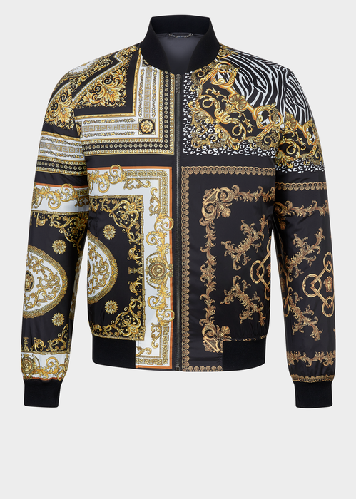 Versace Signature 17 Printed Bomber for Men   Official Website. Iconic  Versace Baroque motifs create the Signature 17 print on this nylon bomber  with ... f056d10d194
