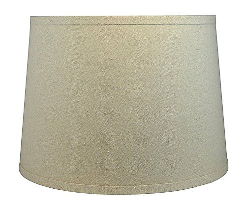 Urbanest Linen Chandelier Lamp Shades, 6 inch, Hardback Clip On, Black(Set of 2)