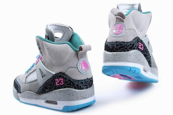 online store 1ccc4 048e7 nike air jordan spizike teal and gray womens Women Air Jordan Spiz .
