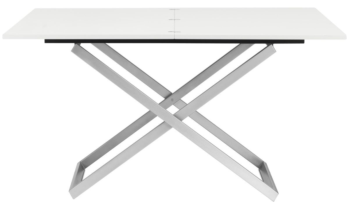Coffee Tables Rubi Adjustable Table Square White Lacquered Adjustable Table Coffee Table Design Modern Coffee Tables [ 720 x 1200 Pixel ]