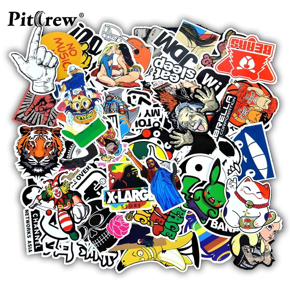 50 Pcs Funny Car Stickers On Motorcycle Suitcase Home Decor Phone Laptop Covers Diy Vinyl Decal Sticker Bomb Jdm C Sticker Bomb Car Stickers Funny Car Stickers [ 1000 x 1000 Pixel ]