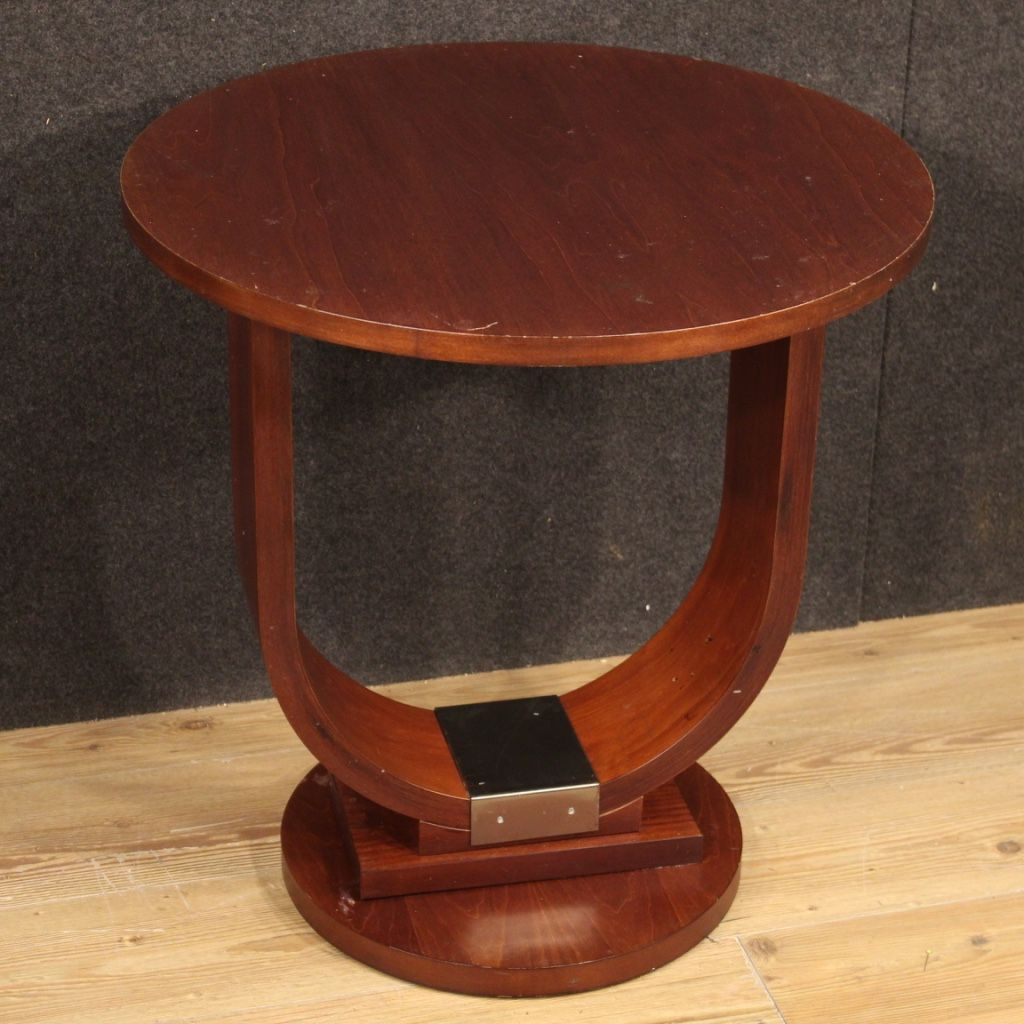 Italian design coffee table in mahogany and fruitwood in ...