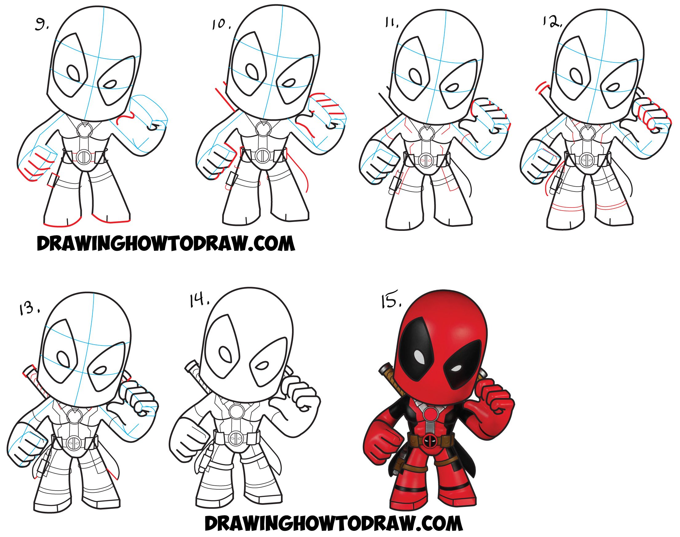 How to Draw Chibi Deadpool Easy Step by Step Drawing Tutorial ...