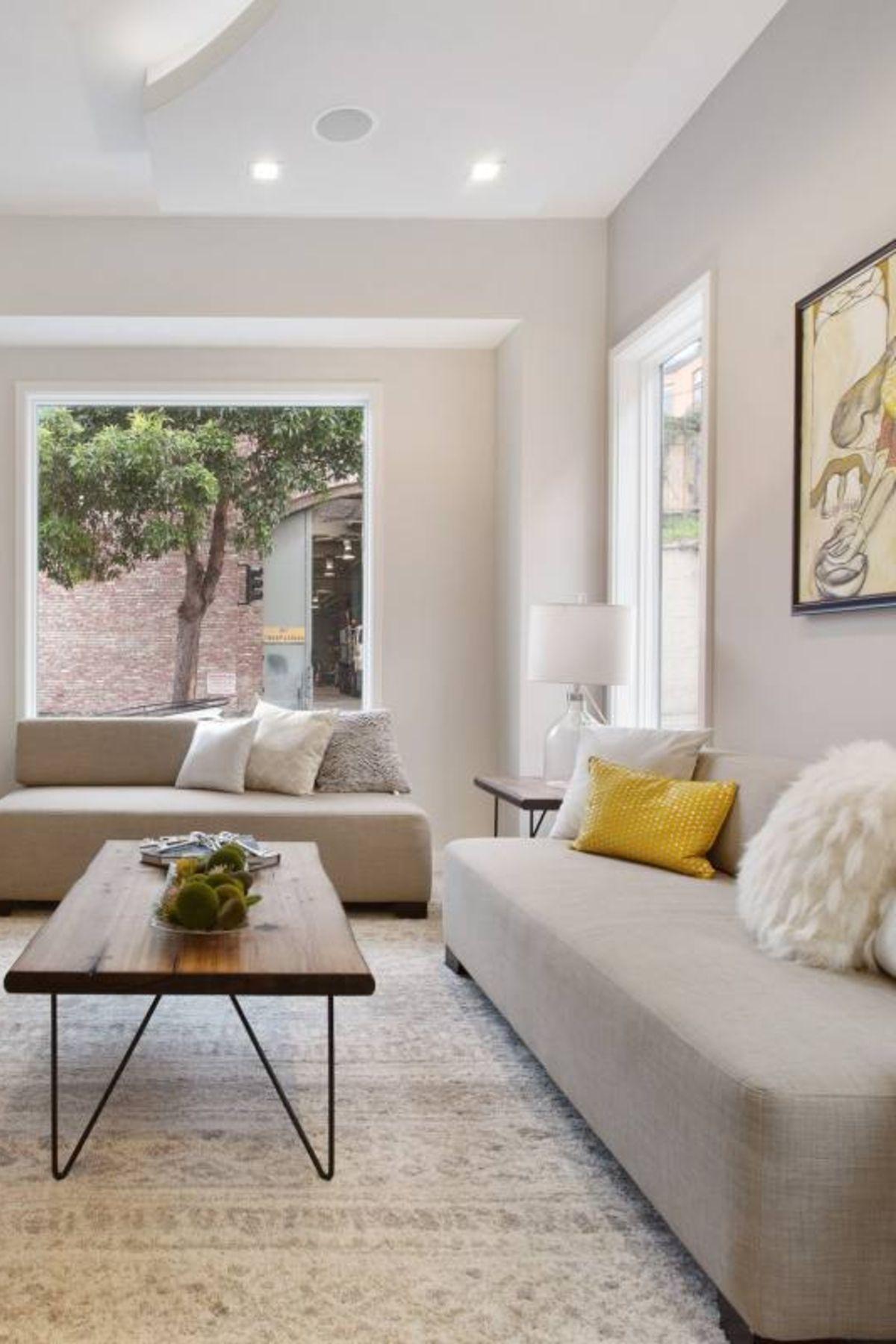 Room redo: Minimalist Contemporary Neutral living room