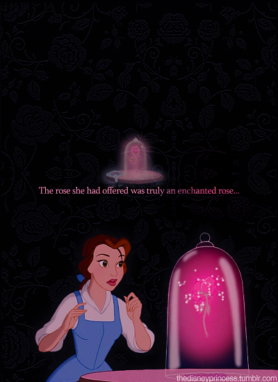 The Rose She Had Offered Was Truly An Enchanted Rose Disney
