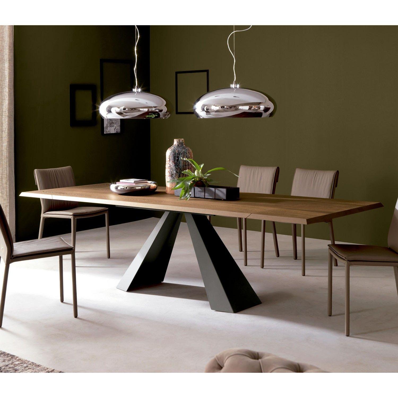 Mesa extensible eliot wood drive en 2019 cattelan italia for Mesas de comedor de madera de diseno