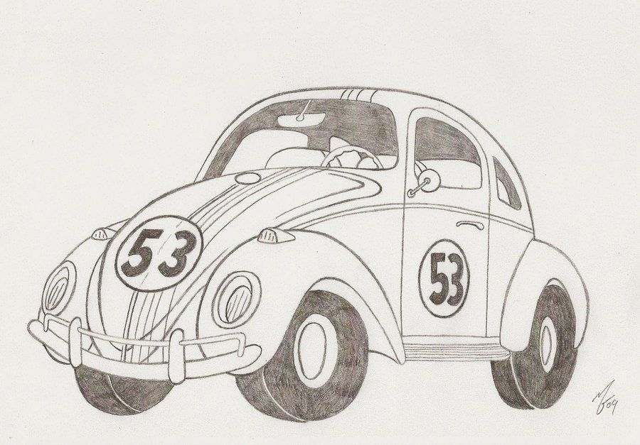 Herbie the Love Bug by ~zombiegoon on deviantART Disney Pinterest - best of coloring pages antique cars
