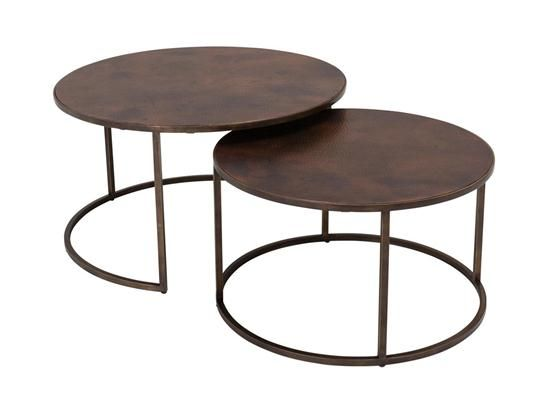 Copper Top Nesting Coffee Tables