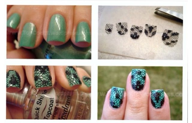 Lace Easy Nail Art Nail Designs To Try 3 Pinterest Easy Nail