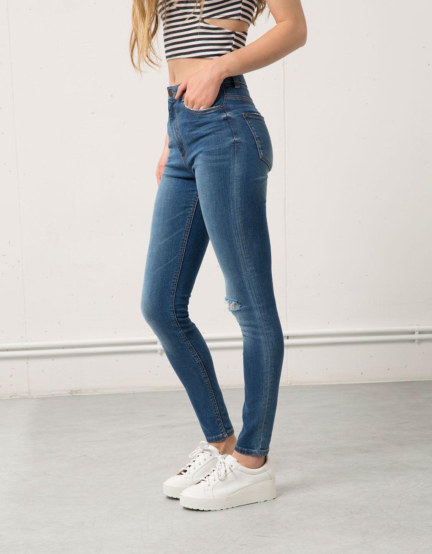 c231aab46 Jeans Super Skinny tiro alto | Tus
