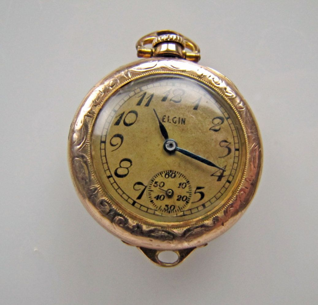 watch pocket Fern vintage