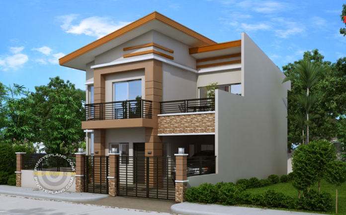 Double story beautiful house plan floor area 165 square meters  MyhomeMyzone com