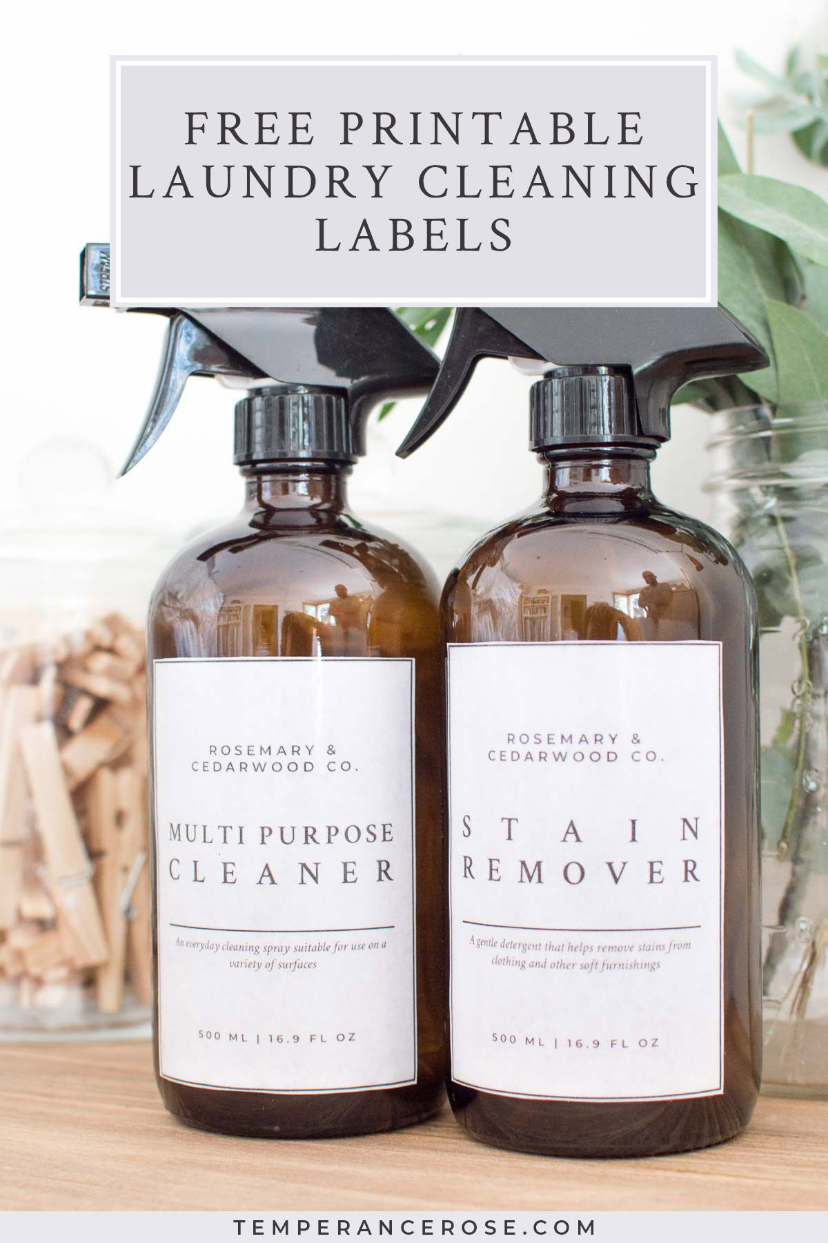 Free Printable Laundry Cleaning Labels To Help You Organise Your