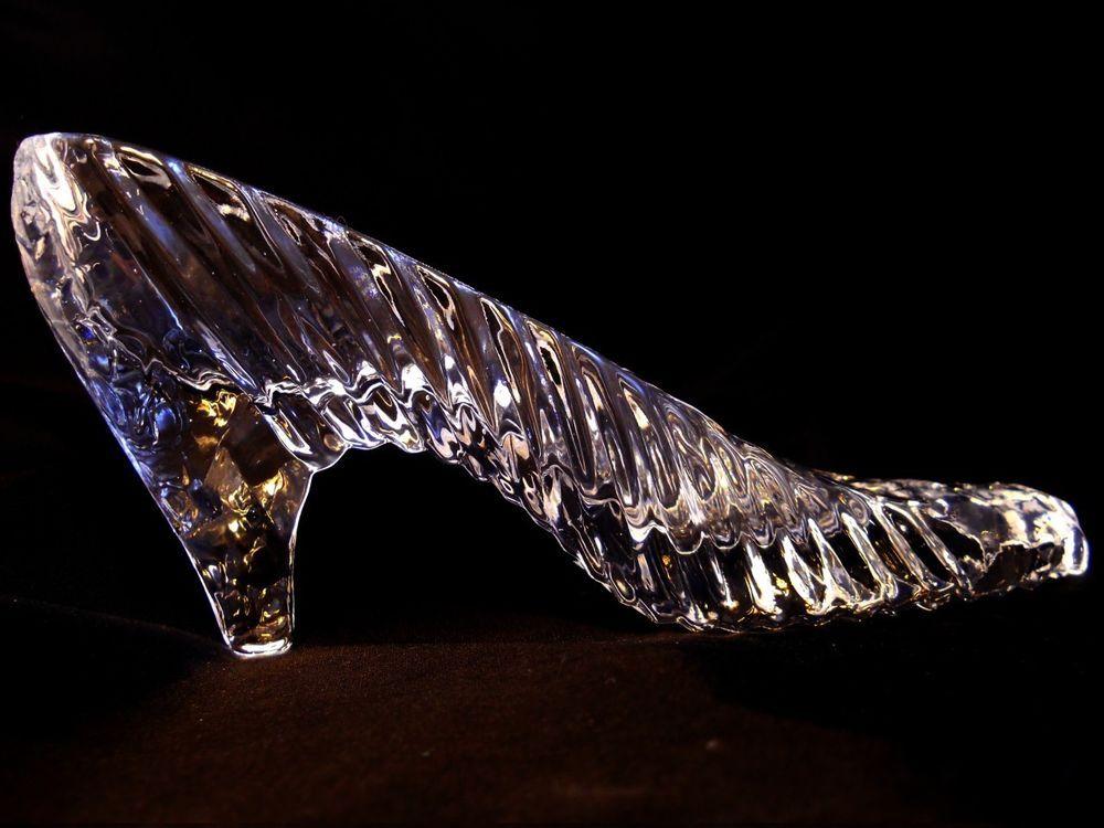 Cake topper cinderella slipper shoe crystal by godinger