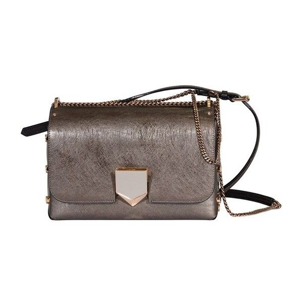 JIMMY CHOO Lockett City (€1.295) ❤ liked on Polyvore featuring bags, handbags, shoulder bags, brown, brown leather shoulder bag, leather purses, crossbody purse, leather cross body purse and brown crossbody