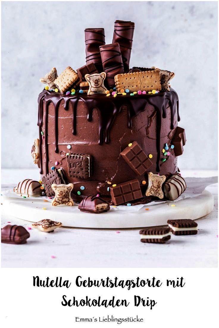 Drip Cake Recipe Birthday Cake Tart Candy Bake Meringue ... -  Nutella Chocolate Drip Cake Recipe B