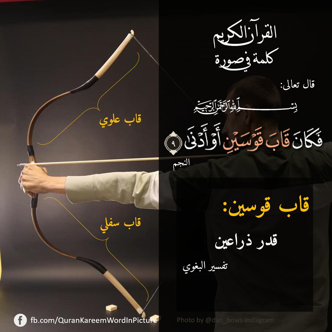ق اب ق و س ی ن وحيدتان في آية النجم ٩ فكان قاب قوسين أو أدنى قاب قوسين قدر قوسين In 2021 Quran Hadith Sharif Islam