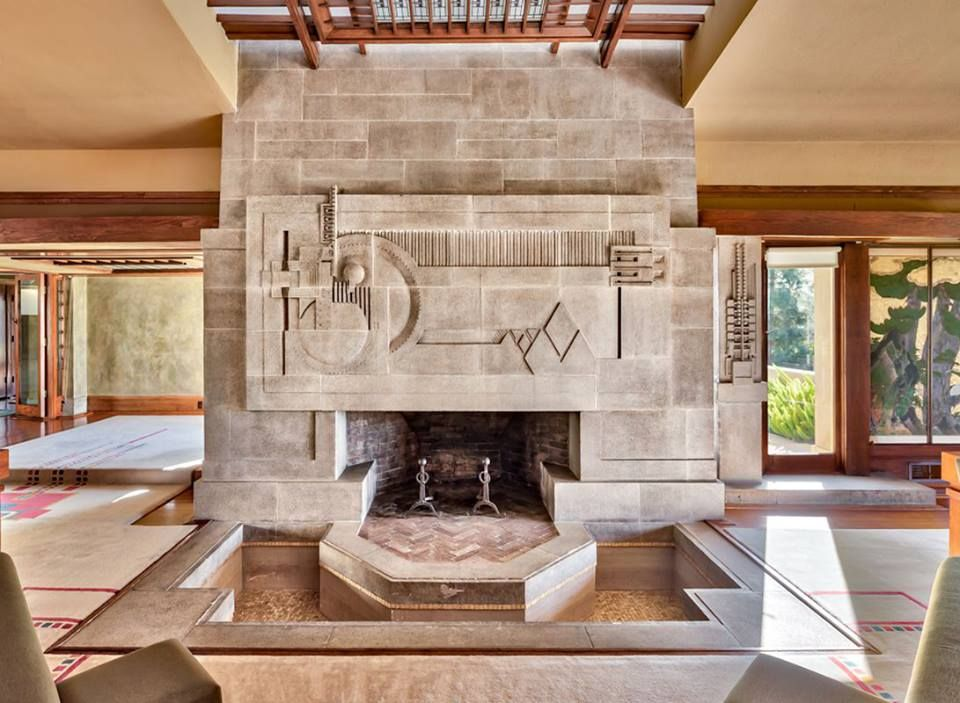 The Roots Of American Modern With The Fireplace At The Aline Barnsdall House Or Hollyhock House L Frank Lloyd Wright Lloyd Wright Upper West Side Apartment