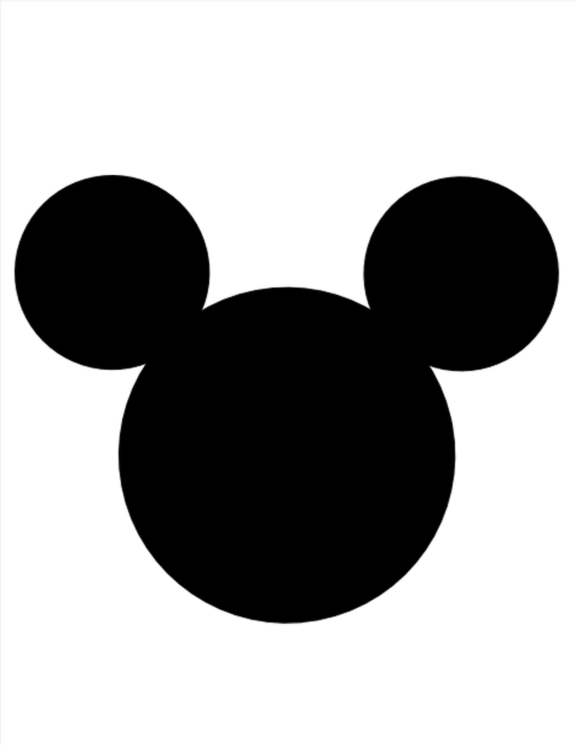 Printable Mickey Mouse Ears Template Leila Pinterest