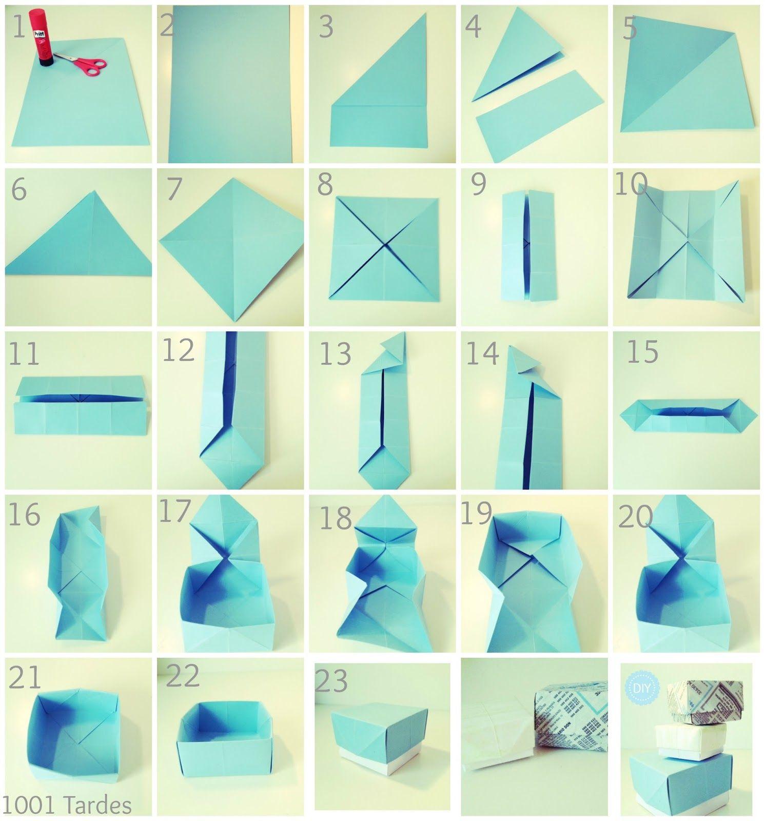 Como hacer cajas con cartulina correosdem xico correos - Como hacer cajitas de cartulina ...