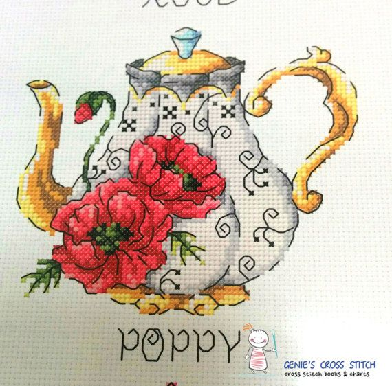 Counted Cross Stitch Kit  Cup of tea with rose leaves M622 by RTO