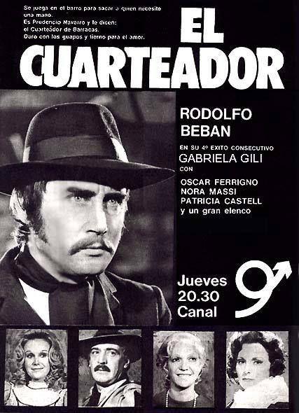 Publicidad del programa EL CUARTEADOR, Canal 9, Buenos Aires, década del 70.