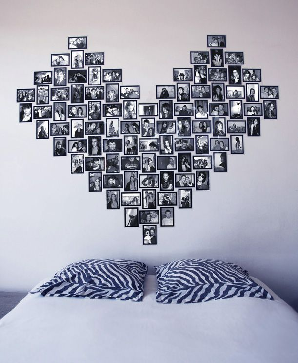 The Deco Idea Of Sunday: Make A Headboard With Photos #headboard #photos  #sunday