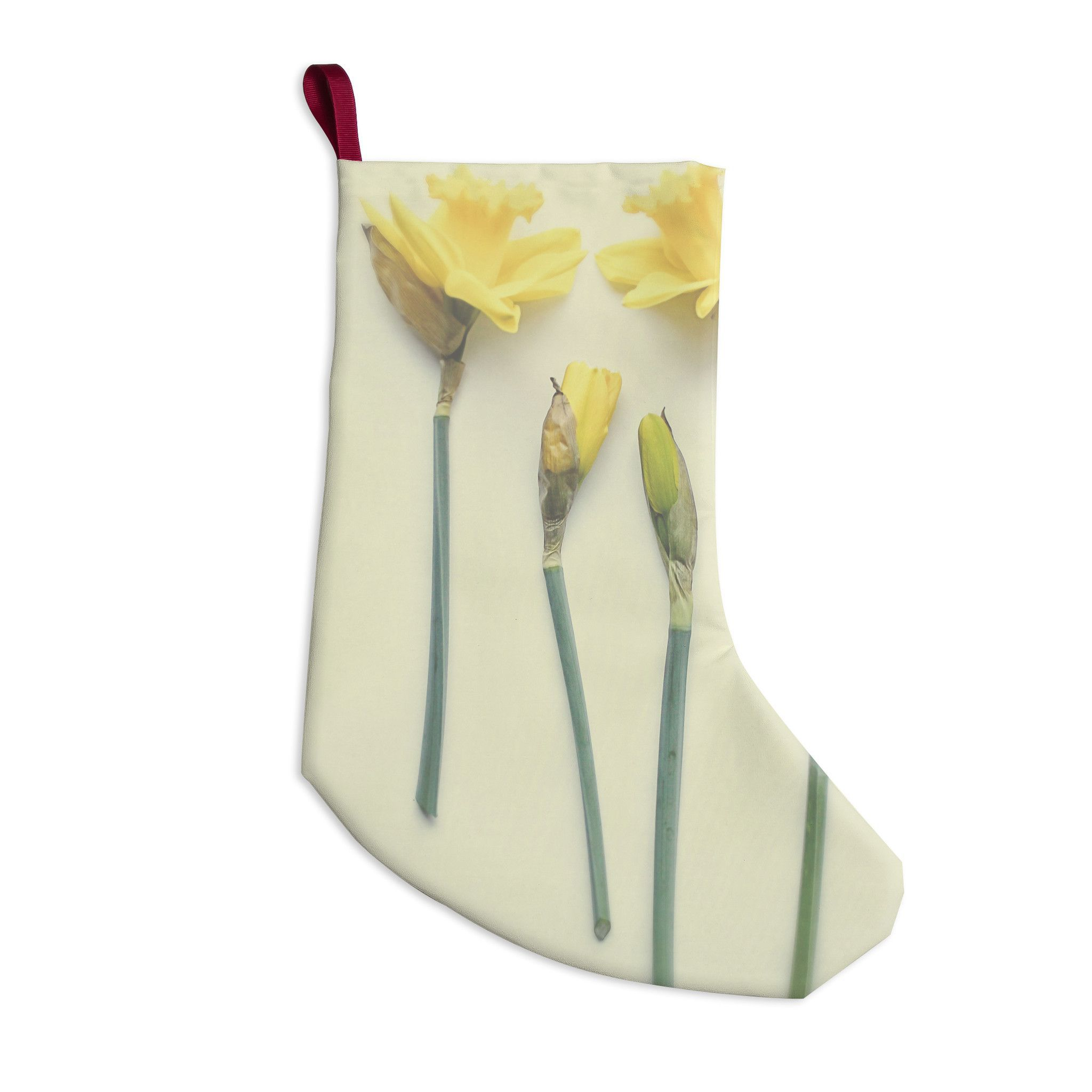"Debbra Obertanec ""Springtime Yellow"" Tulip Christmas Stocking"