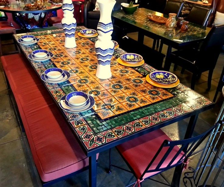 Mexican Tile Tabletops | Tile tile tile | Mosaic coffee ...