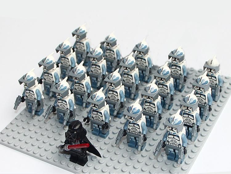 21PCS//LOT Star Wars Clone Trooper Weapons Gun Building Blocks Fit With Lego Toys