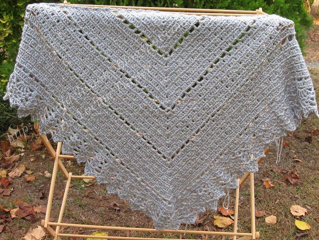 This Is A Simple Shawl Pattern Similar To The Popular Granny Square