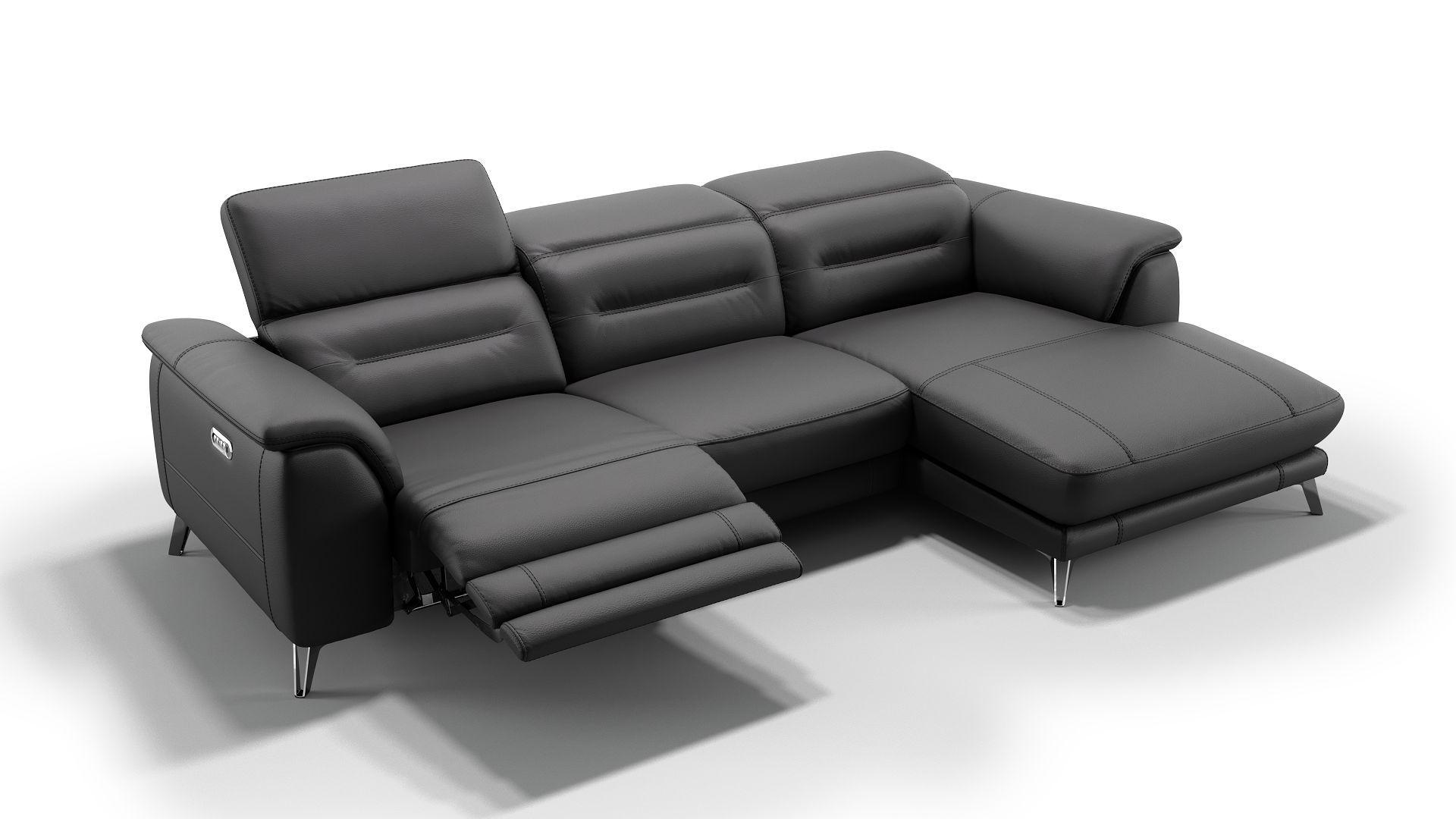 Die Polstergarnitur Gandino Ist Elektrisch Ausfahrbar Die Motorische Sitztiefenverstellung Durch Die Relaxfunktion Ist Gema Zimmereinrichtung Sofa Design Sofa