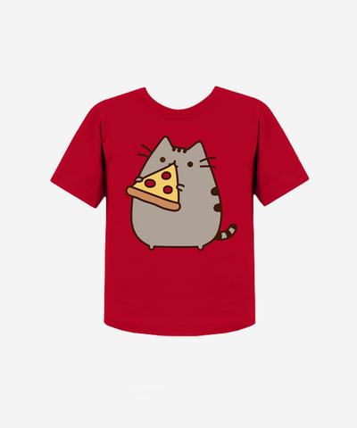 0ad4213a7bb Pizza Pusheen T-shirt (kids) - Hey Chickadee | cookies time | Kids ...