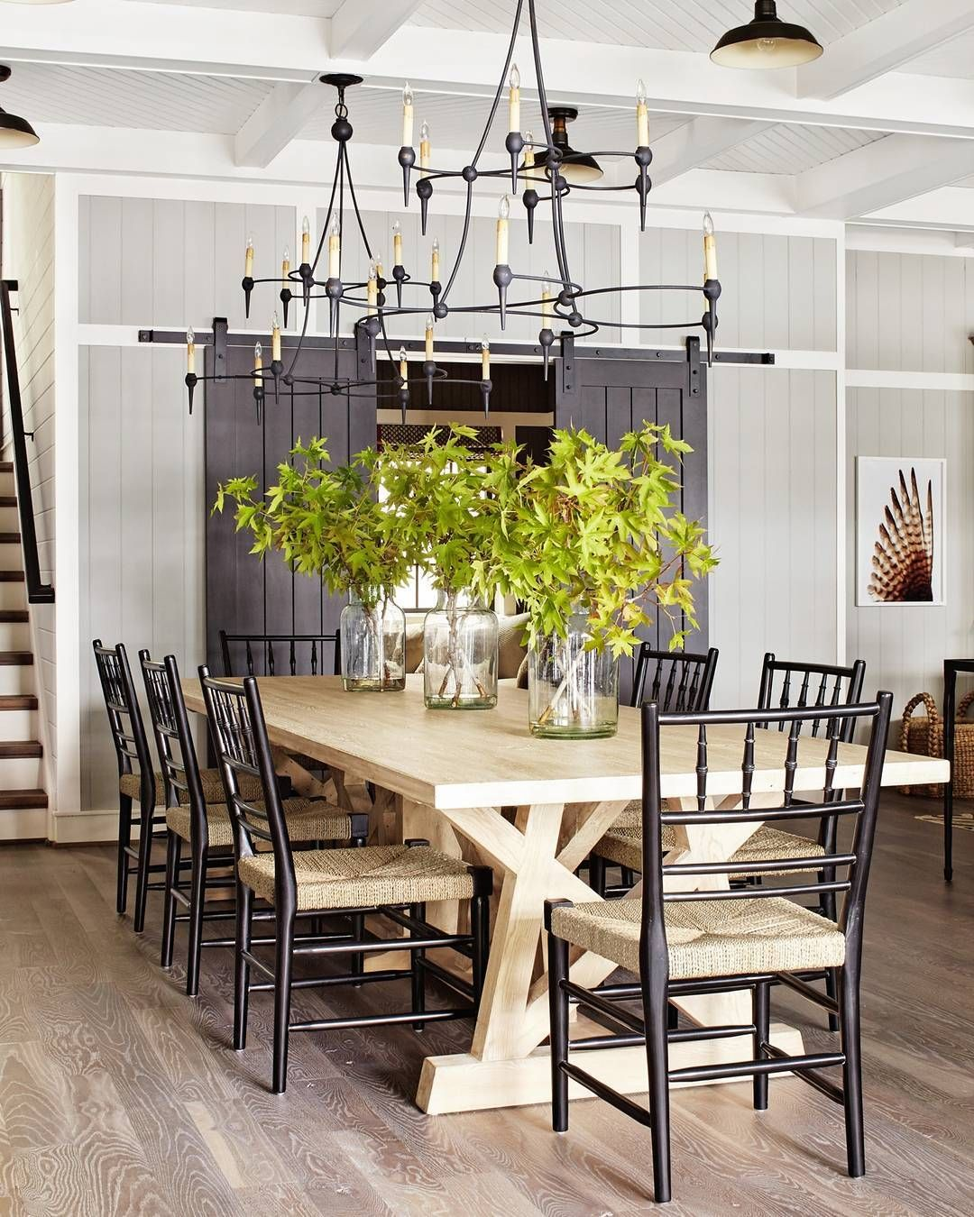 An Inviting Modern Farmhouse Inspired Dining Room.