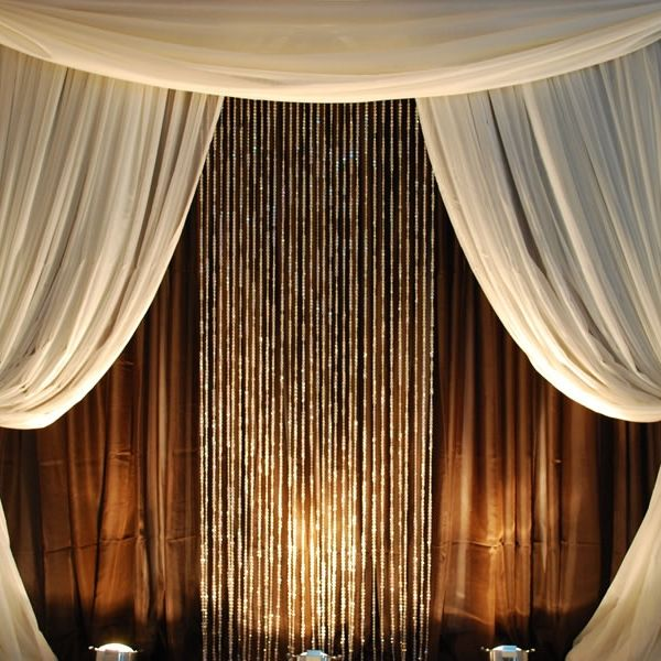 Ez Series Round 4 Post Canopy Chuppah Modern Mandap 10ft Diameter Curtain Backdrops Event Decor Direct Professional Decor