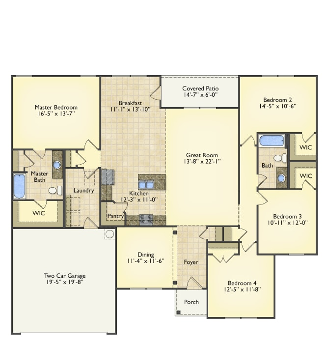 Lexington Home Plan Greenville Surrounding Areas Red Door Homes Nc Lexington Home House Plans Floor Plans
