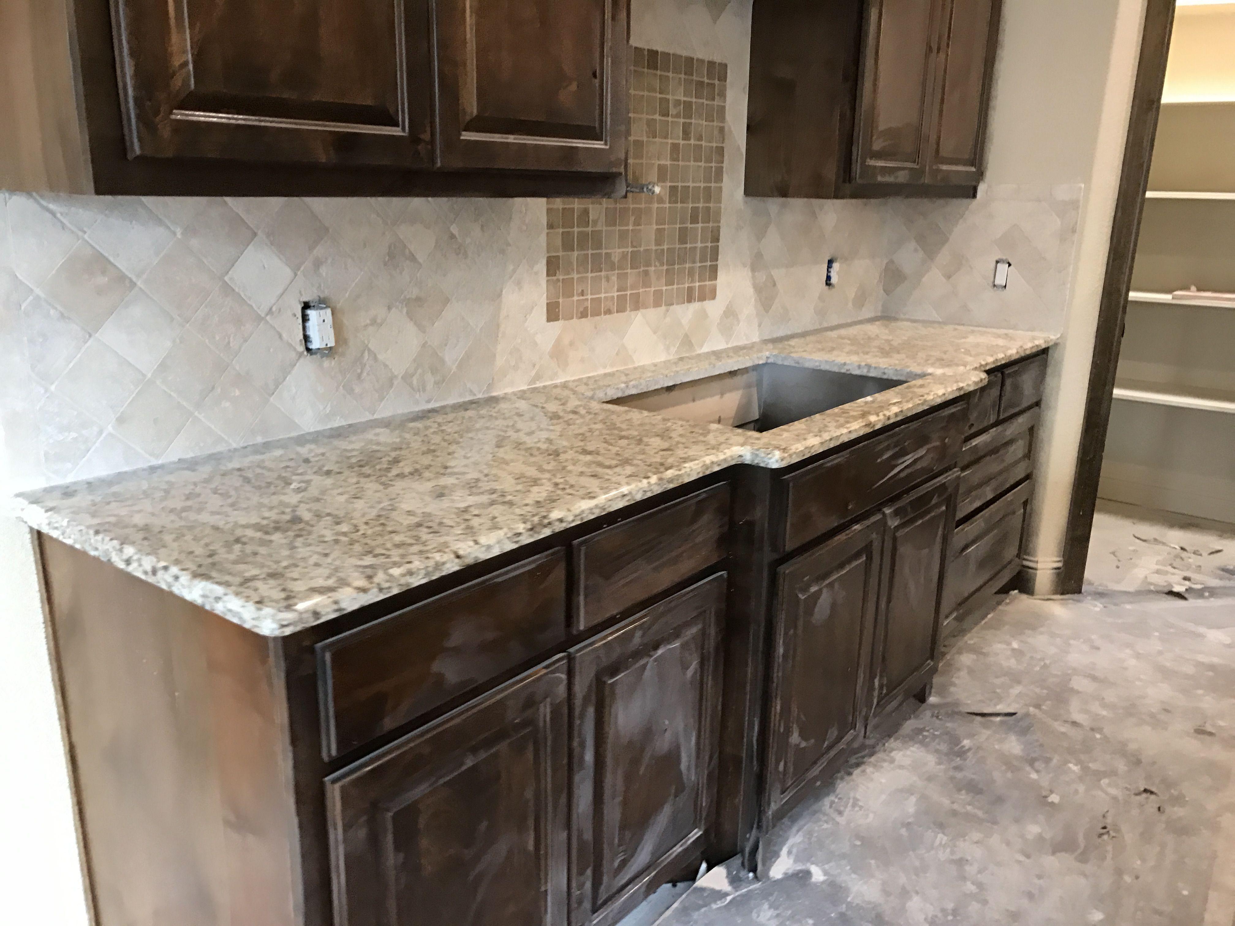 Kitchen Countertops In Giallo Napoli In The Works Kitchen Remodel Kitchen Backsplash Granite Countertops