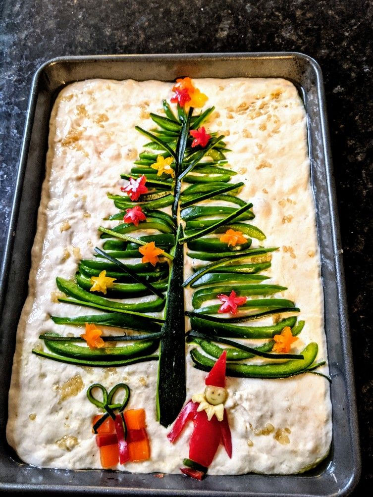 Christmas tree focaccia
