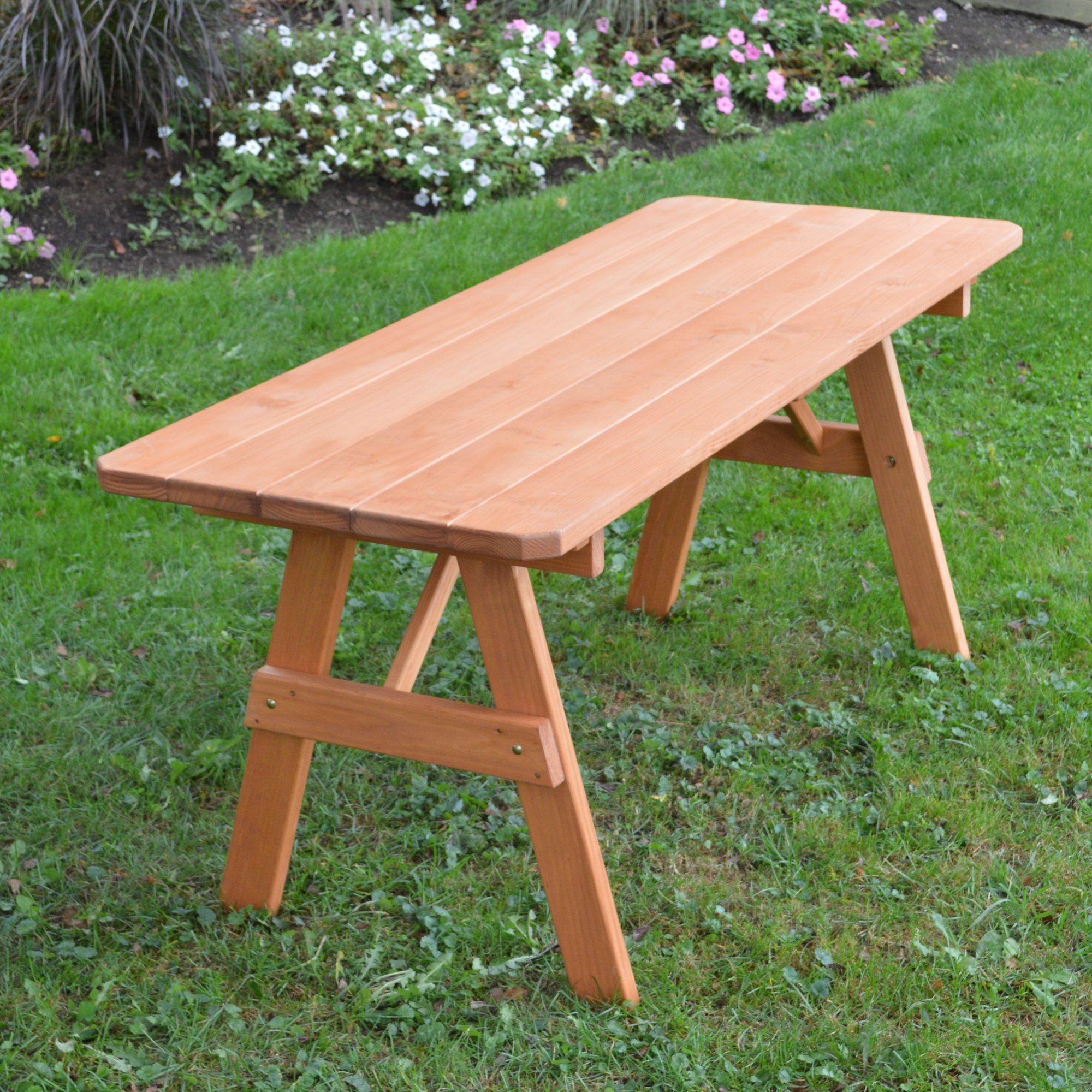 Varick Wooden Picnic Bench Picnic Table Wooden Garden Benches Cedar Stain