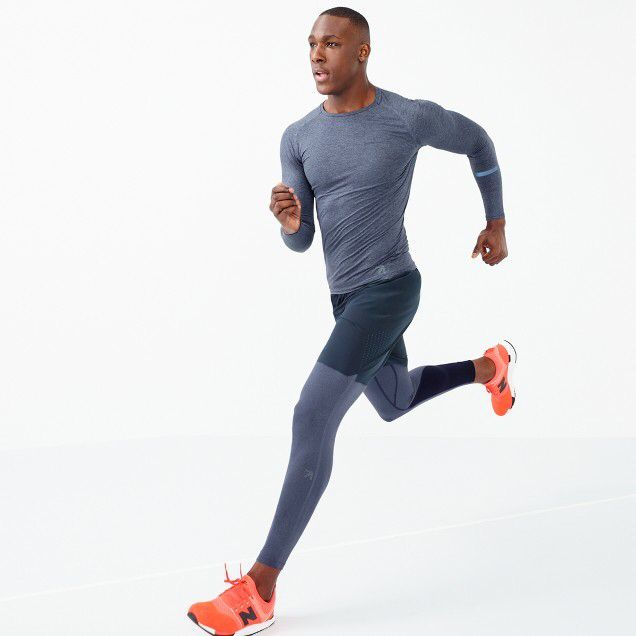 e502773adc682 Buy Now: New Balance® for J.Crew compression tights- men's fitness,  athletic wear, sports wear, gym clothes, workout wear, men's leggings, yoga  tights, ...