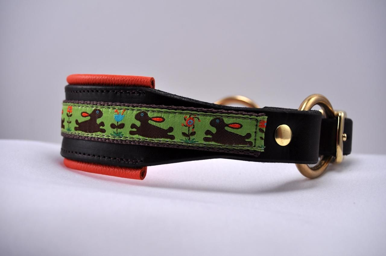 Sexy Beast Dog Collars - Meadow Bunny Lined Latigo Leather Tapered Dog Collar, $60.00 (http://sexybeastdogcollars.com/hound-collars/meadow-bunny-lined-latigo-leather-tapered-dog-collar)