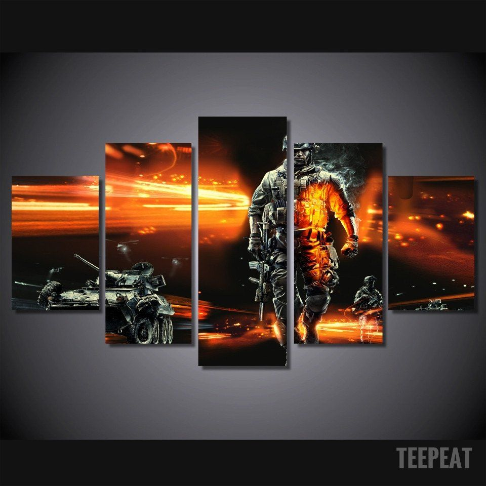 Modern Soldier - 5 Piece Canvas LIMITED EDITION - The Nerd Cave - 1 #prints #prntable #painting #canvas #empireprints #teepeat